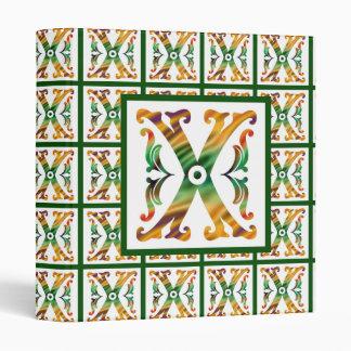 Vintage Initial X - Monogram X Binder
