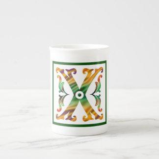 Vintage Initial X - Monogram X Bone China Mug