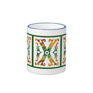 Vintage Initial X - Monogram X Mug