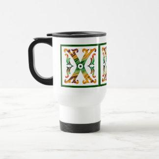 Vintage Initial X - Monogram X Coffee Mug