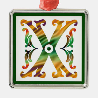 Vintage Initial X - Monogram X Ornaments