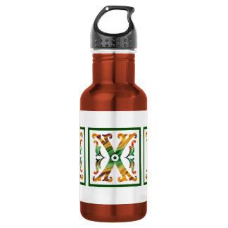 Vintage Initial X - Monogram X 18oz Water Bottle