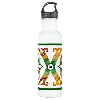 Vintage Initial X - Monogram X 24oz Water Bottle