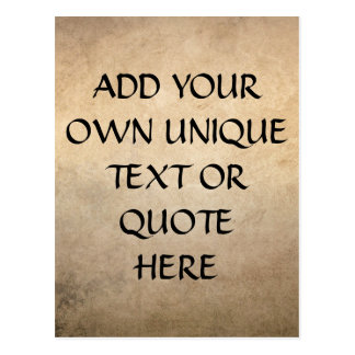 Vintage Ink and Paper Custom 'Add your own text' Postcard