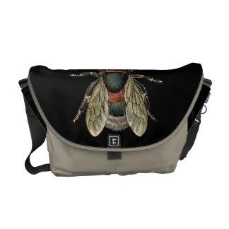 Vintage Insect Bee illustration -Messenger Bag Messenger Bags