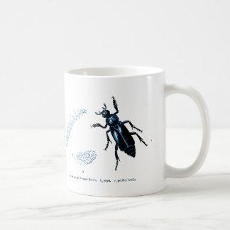 Vintage Insect   Sexton Beetle   Blue Coffee Mug