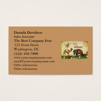 Vintage Inspirational Dancer Business Card