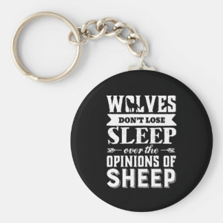 Vintage Inspirational Motivation Quote Wolves Keychain