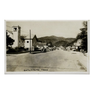 Vintage Inspired 1930's Gatlinburg Tennessee Poster