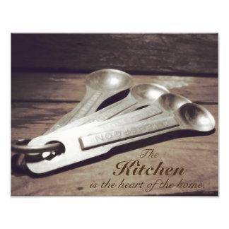 Vintage Inspired Aluminum Measuring Spoons Photo Print