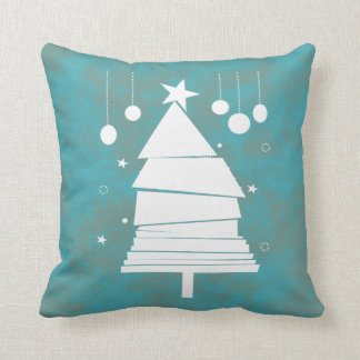 Vintage Inspired Christmas Tree Design Pillow