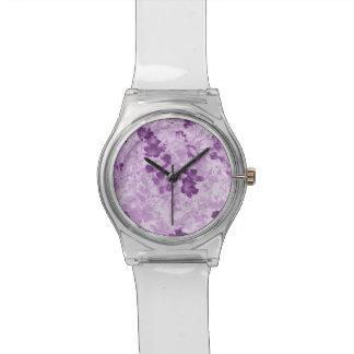 Vintage Inspired Floral Mauve Wristwatch