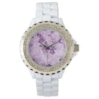 Vintage Inspired Floral Mauve Watch