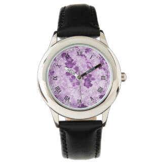 Vintage Inspired Floral Mauve Watches