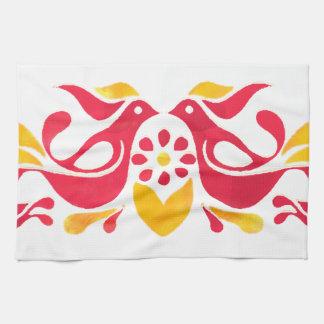 Vintage Inspired Friendship Birds Tea Towel