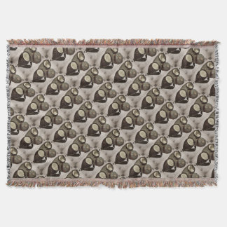 Vintage Inspired Goggles Throw Blanket