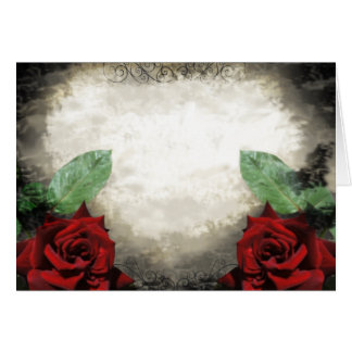 Vintage-Inspired Gothic Rose Card