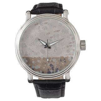 Vintage inspired Neautral Color Circle Pattern Watch