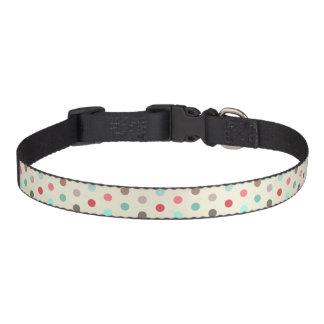 Vintage Inspired Small Polka Dots Pattern Pet Collar