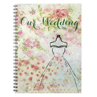 Vintage Inspired Wedding Plan Notebook