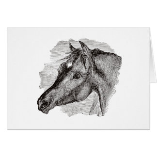 Vintage Intelligent Horse Template