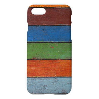 Vintage iPhone7 Case with multicolor wooden planks
