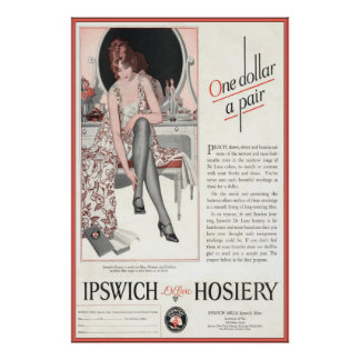 Vintage Ipswich Hosiery Ad from 1924 Poster