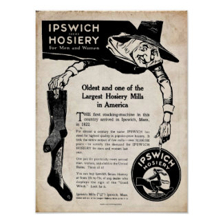 Vintage Ipswich Hosiery Co. Print