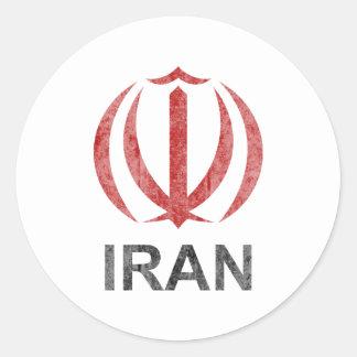 Vintage Iran Classic Round Sticker