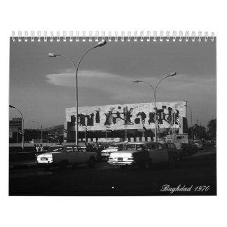 Vintage Iraq baghdad 1970 Calendar