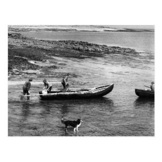 Vintage Ireland, Aran Island Currach Boats Postcard
