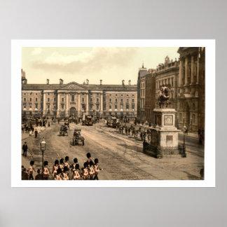 Vintage Ireland, College Green Dublin Poster