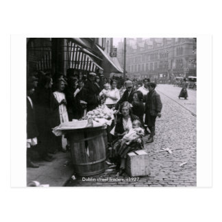 Vintage Ireland, Dublin Street traders c1927 Postcard
