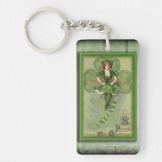 Vintage Ireland Keychain