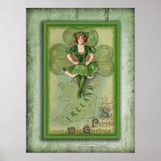 Vintage Ireland Poster
