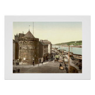 Vintage Ireland Reginalds Tower Waterford Poster