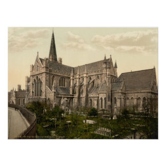 Vintage Ireland, Saint Patrick's Cathedral Dublin Poster