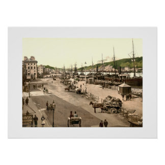 Vintage Ireland, Waterford City Quay Poster
