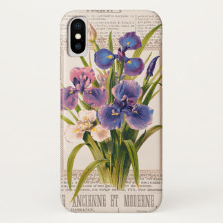 Vintage Irises Antique et Moderne Collage Case-Mate iPhone Case