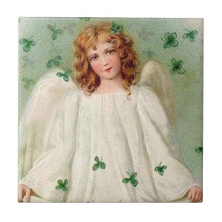 Vintage Irish Angel tile