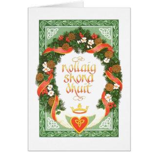 Vintage Irish Christmas Card