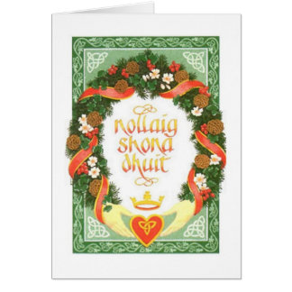 Vintage Irish Christmas Card