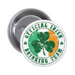 'Vintage' Irish Drinking Team Button