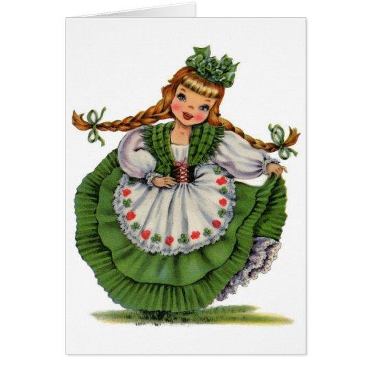 Vintage Irish Girl, Card