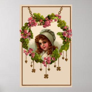 Vintage Irish Girl Poster