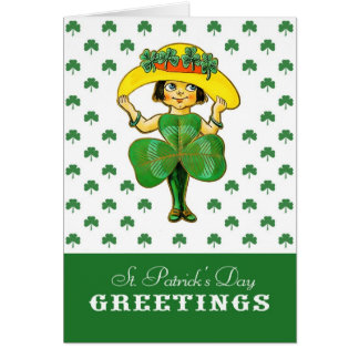 Vintage Irish Girl St. Patrick's Day Cards