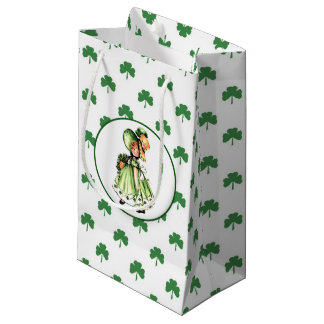 Vintage Irish Girl St.Patrick's Day Gift Bags Small Gift Bag