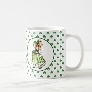 Vintage Irish Girl St. Patrick's Day Gift Mugs