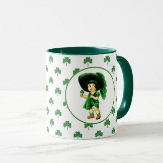 Vintage Irish Girl St.Patrick's Day Gift Mugs