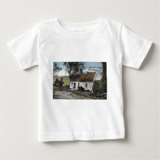 Vintage Irish thatched cottage St. Patricks Day Baby T-Shirt
